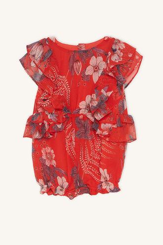 BIANCA FLUTTER GROW in colour POPPY RED