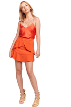 CROPPED CAMI TOP in colour MANDARIN RED