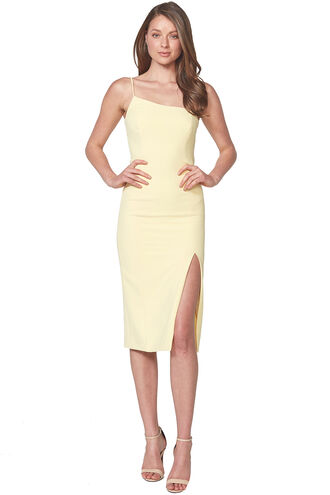 SUZANA MIDI DRESS in colour LEMONADE