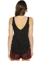 RIKI TANK TOP in colour CAVIAR