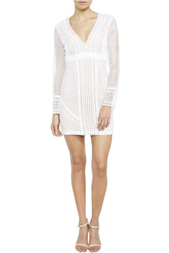 LIDIA LACE DRESS in colour BRIGHT WHITE
