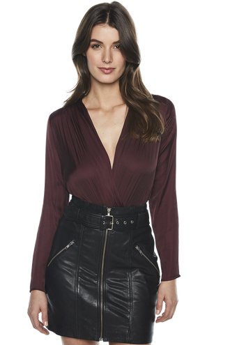 WRAP BODYSUIT in colour WINETASTING