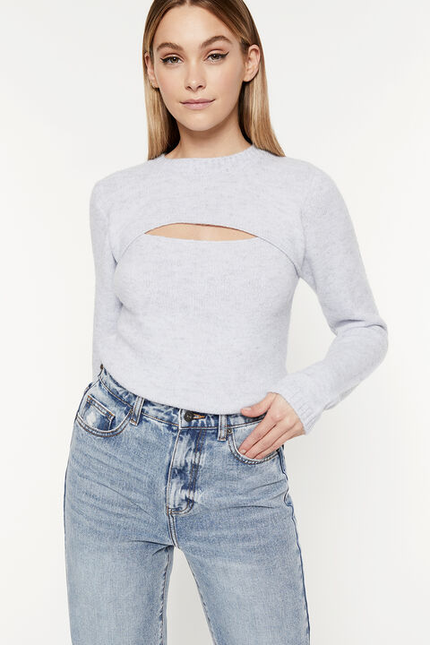 EVIE KNIT TOP  in colour MOONLIGHT BLUE