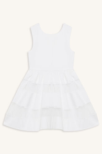 CAMILLE BOW DRESS in colour BRIGHT WHITE
