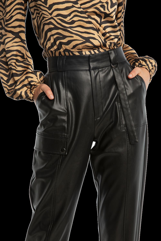 PU RILEY CARGO PANT in colour CAVIAR