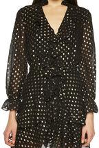 SPOT SHIRT DRESS in colour CAVIAR