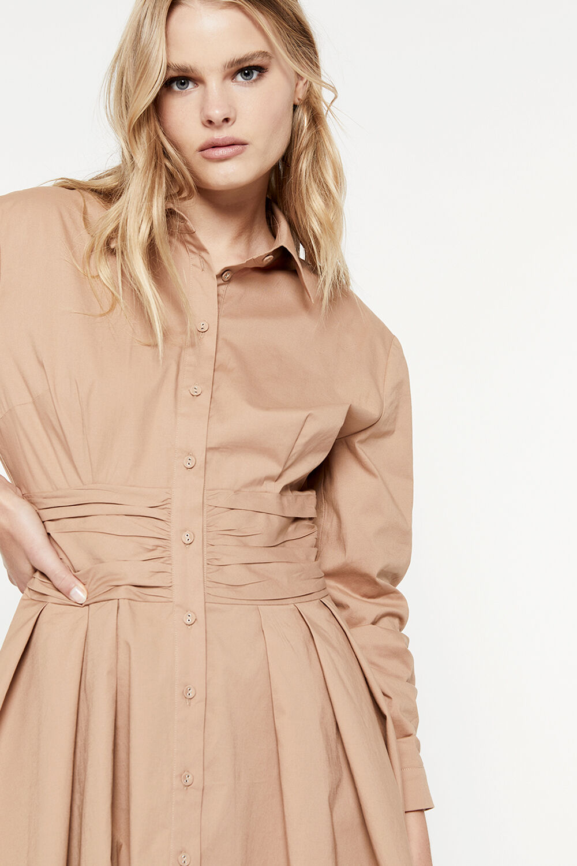 LEONI MINI SHIRT DRESS in colour MOONLIGHT