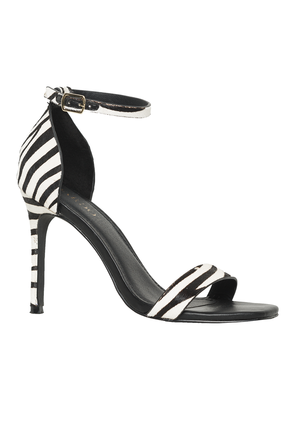 ZEBRA SQUARE TOE HEEL in colour ANTELOPE