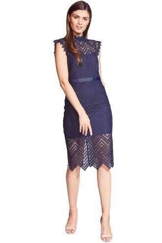 IMOGEN LACE DRESS in colour MARITIME BLUE