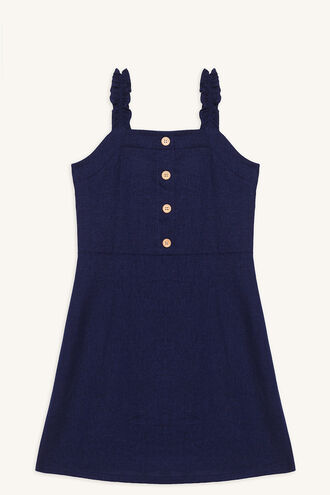 MORGAN BUTTON DRESS in colour PATRIOT BLUE