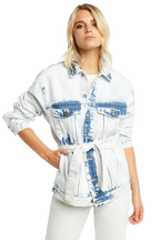 OVERSIZED TIE DYE JACKET in colour BRIGHT WHITE