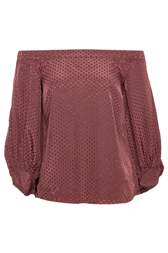 SKYLINE TOP in colour ROSE BROWN