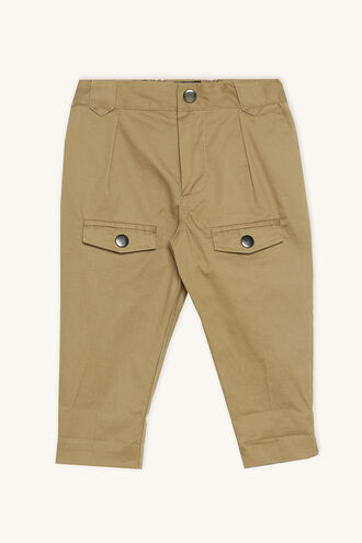 THEO UTILITY TROUSER in colour COVERT GREEN