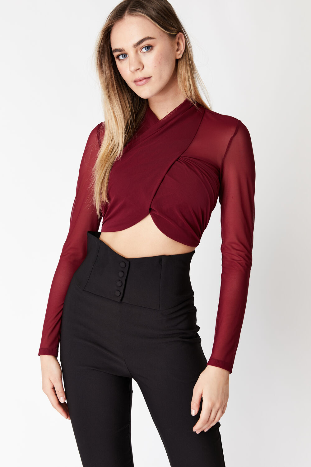 ALIYAH TOP in colour CHOCOLATE BROWN