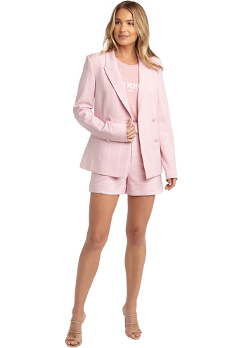 LONDON CHECK BLAZER in colour LILAC SACHET