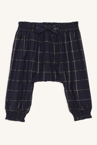 GOLD CHECK PANT in colour DRESS BLUES