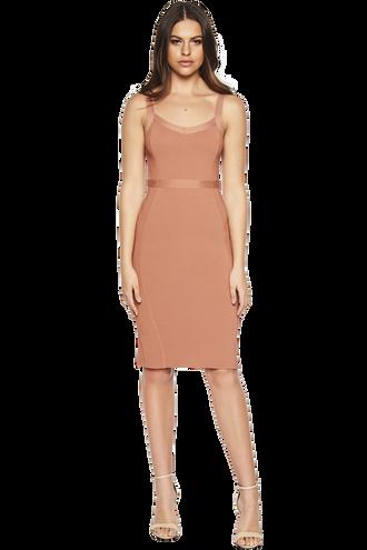 KATY KNIT DRESS in colour PRALINE