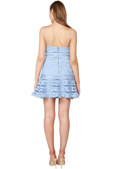 AGNES LACE DRESS in colour CRYSTAL BLUE