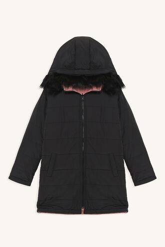 JUNO PUFFER COAT in colour JET BLACK