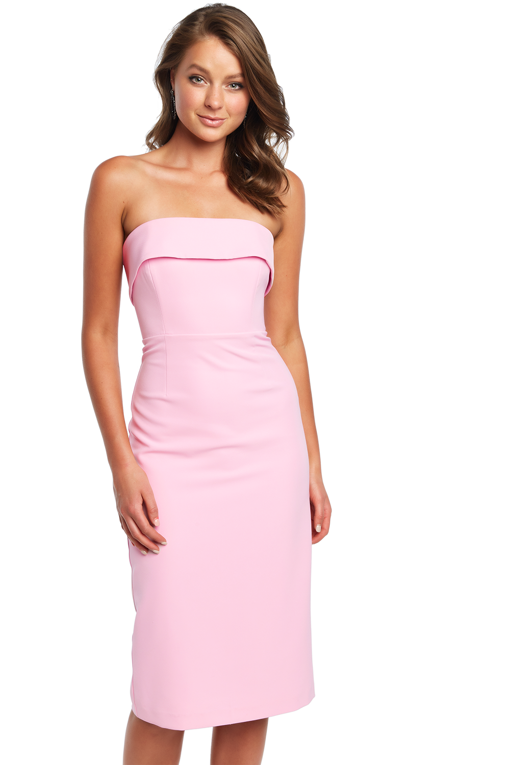 GEORGIA STRAPLESS DRESS in colour PINK LADY