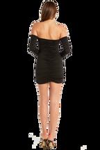 OFF SHOULDER DRESS in colour CAVIAR