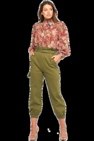 SAFARI PANT in colour DUSKY GREEN