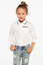 CAMO TRIM SHIRT in colour BRIGHT WHITE