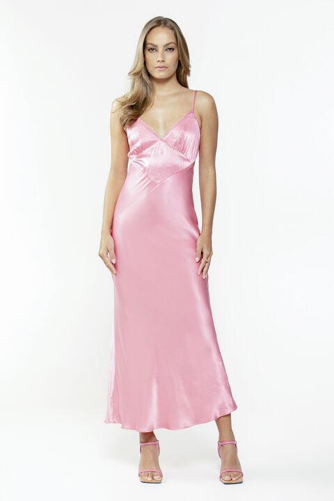 MALINDA SLIP DRESS in colour STRAWBERRY CREAM