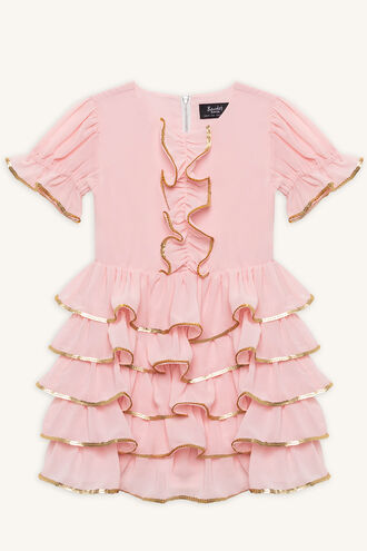 ELLIS RA RA DRESS in colour CLOUD PINK