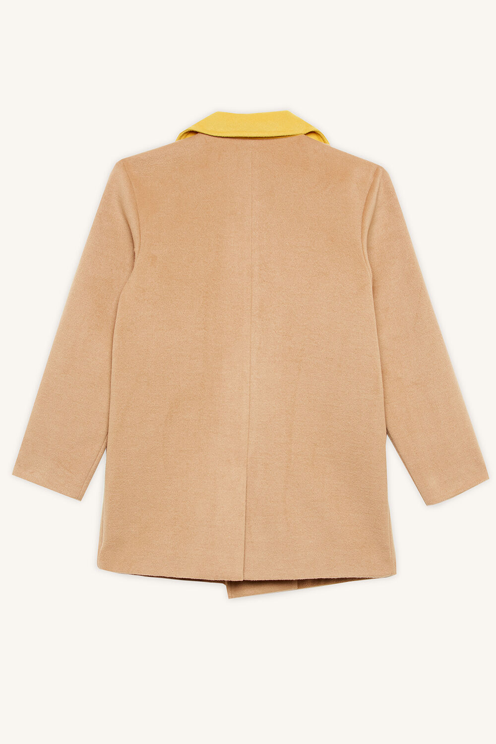 BENNETT WOOL COAT in colour TAN