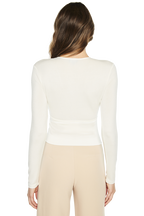 PLUNGE TOP in colour SNOW WHITE