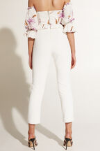 ZALIA SLIM PANT in colour CLOUD DANCER
