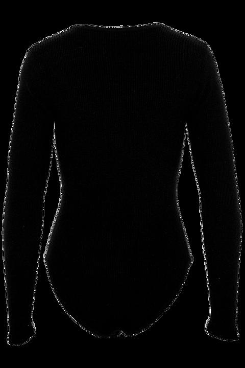 CREW NECK BODYSUIT in colour CAVIAR