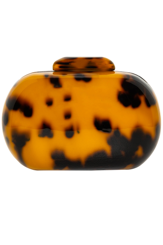 OVAL TORTOISE CLUTCH in colour TORTOISE SHELL