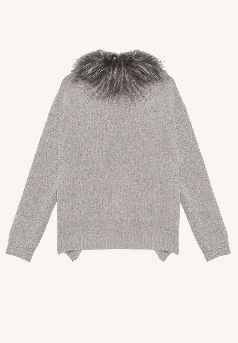 FAUX FUR CARDI in colour FROST GRAY