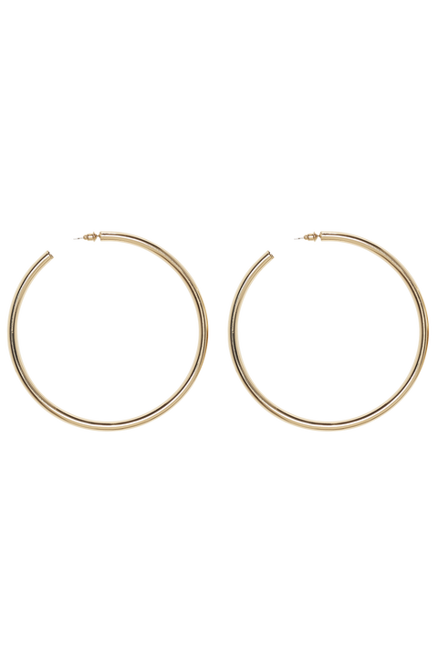 SUPER HOOPS 1.5 in colour GOLD EARTH