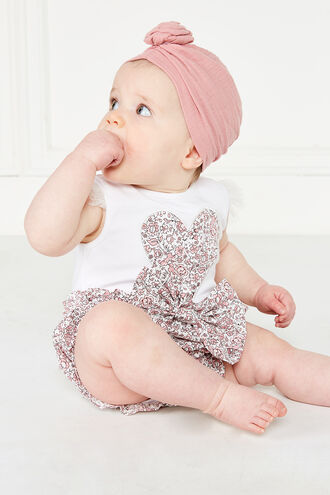 GERTIE BOW BLOOMER in colour BRIDAL ROSE