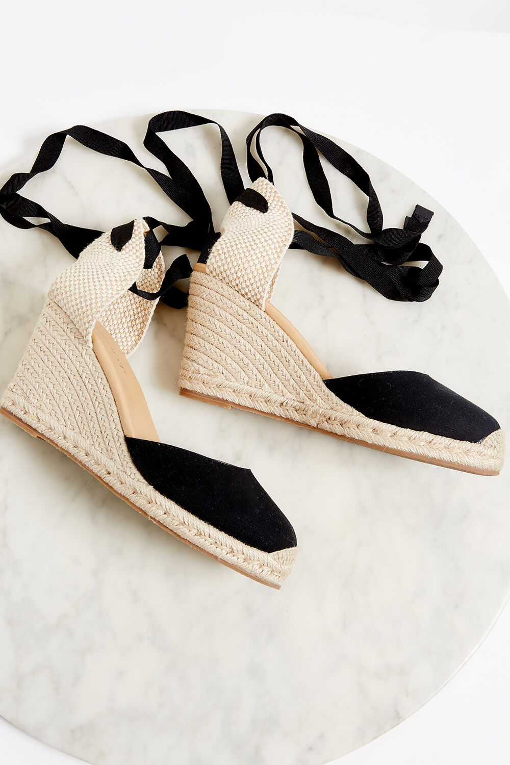 VACAY ESPADRILLE WEDGE in colour CAVIAR