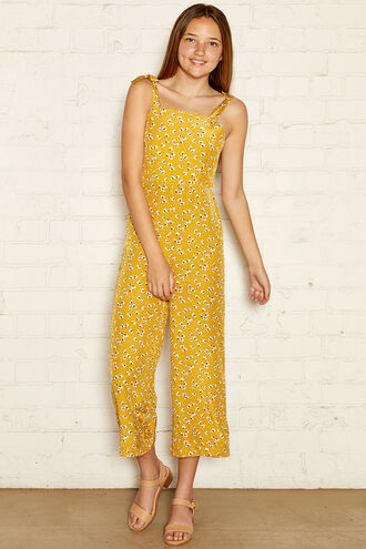 BELLA JUMPSUIT in colour YOLK YELLOW