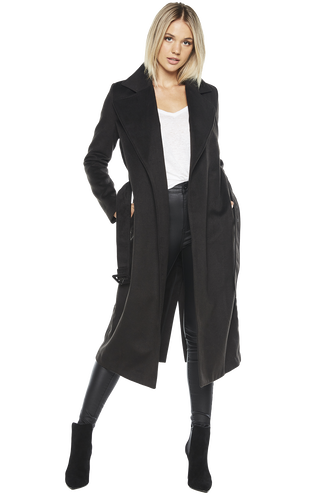 LONG COAT in colour JET BLACK