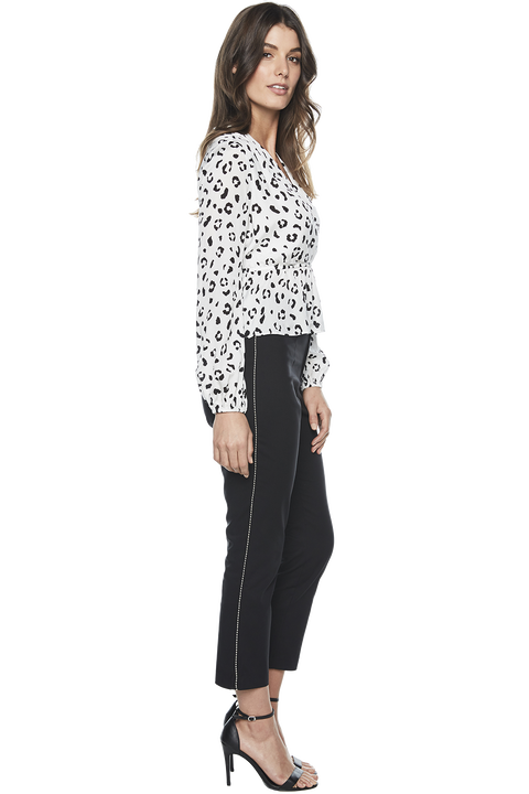 SIENNA TRIM PANT in colour CAVIAR