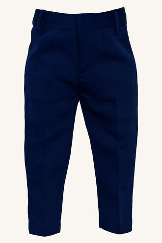 TEXTURED SUIT PANT in colour DRESS BLUES
