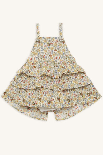 FRILL APRON GROW in colour PASTEL YELLOW