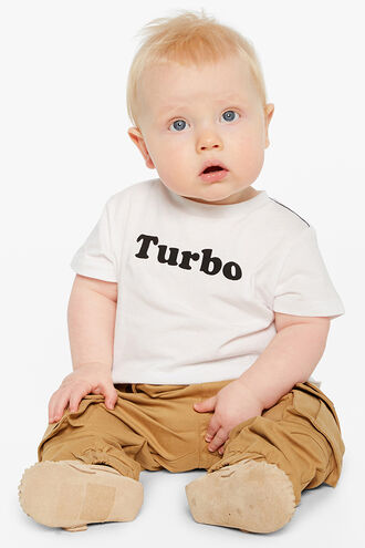 TURBO S/S TEE in colour BRIGHT WHITE