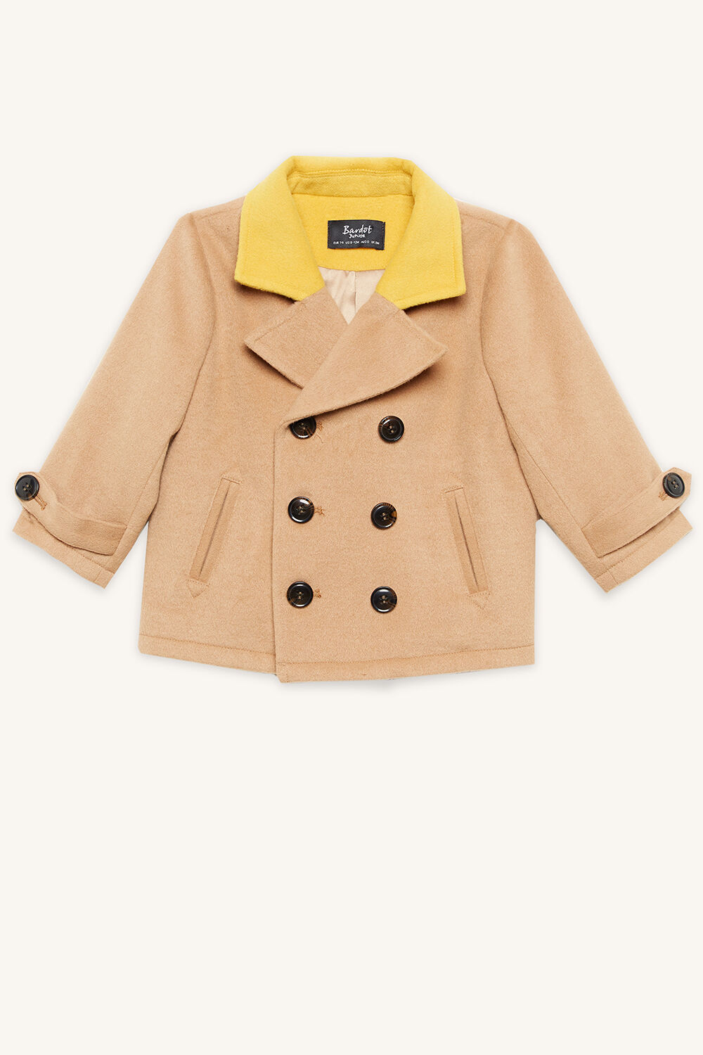 EASTON PEACOAT in colour TAN