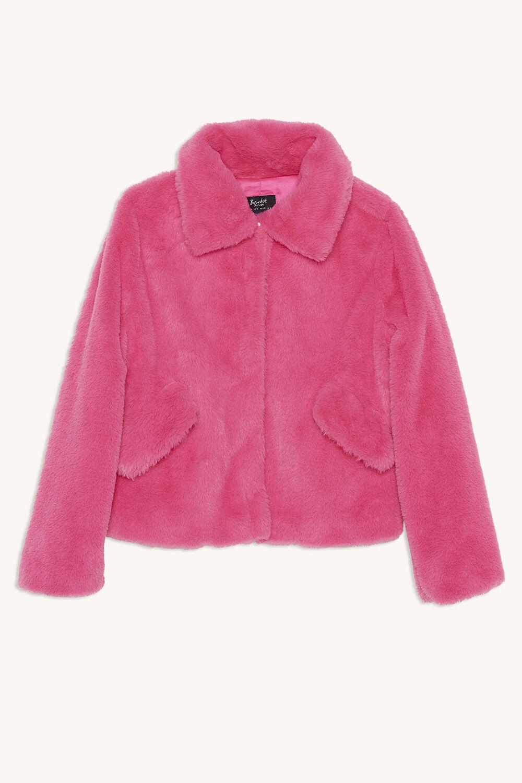COLE PLUSH JKT in colour PARADISE PINK