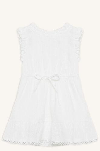 ELKE BRODERIE DRESS in colour BRIGHT WHITE
