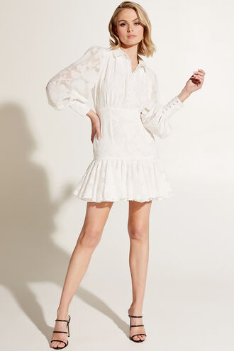 MAISY MINI DRESS in colour CLOUD DANCER