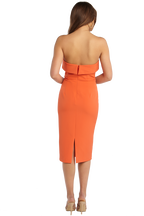 ZORIANNA MIDI DRESS in colour SPICY ORANGE