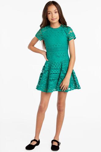 ESTELLE LACE DRESS in colour BOSPHORUS